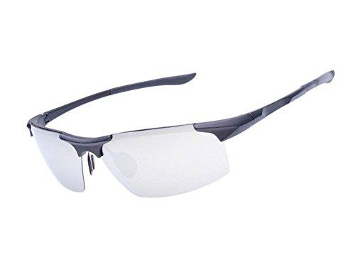Classic driver mirror male and female couple riding glasses outdoor sports sunglasses (Black Color, Silver - Pilot Sunglasses Aviator Celine