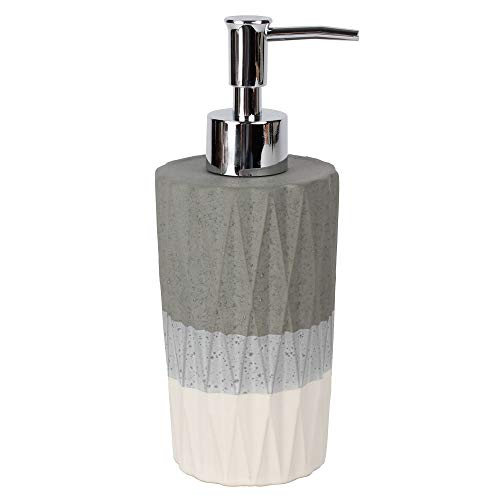 Saturday Knight Ltd Cubes Collection Easily Fit & Everyday Use Lotion Dispenser 7.28x2.99x2.99 - Dove Gray