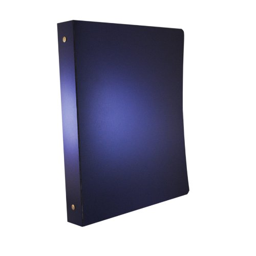 (Aurora GB PolyPro Binder, 1-Inch Black Round Ring, 8-1.2 x 11 Inches, 2-Tone Metallic - Blue Ice/Black and Heavy Duty 55 Gauge Polypropylene)