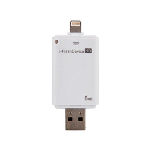 NewNow 8GB 8Pin USB i Flashdrive Disk Device Stick Memory Data Traveler for Apple iPhone6, 6 Plus, 5S, 5, 5c / iPad Air 2, Air, iPad Mini 3,Mini 2/ iPod Touch