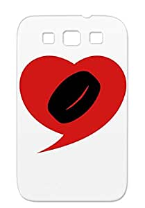 Red Rugged Sport Icehockey Sports Winter Winter Ice I Love Hockey Heart Skates Puck TPU Case Cover For Sumsang Galaxy S3 I The