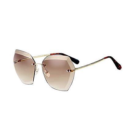 Sunglasses- Borderless Personalidad polígono Mujeres Gafas ...