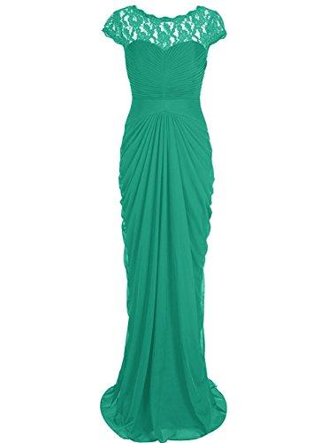 La Mère De Robe De Demoiselle D'honneur En Mousseline De Soie Longue Des Femmes Asbridal De La Soirée Mariée Verte Robe