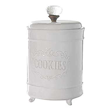 Mud Pie Circa Cookie Jar, White