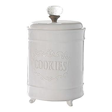 Mud Pie Circa Cookie Jar, White