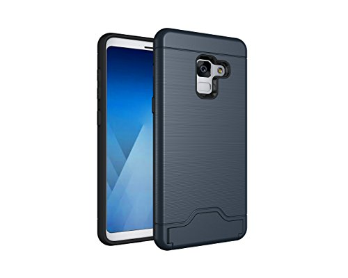 Galaxy A8 2018 Case, SsHhUu [Card Slot Holder]...