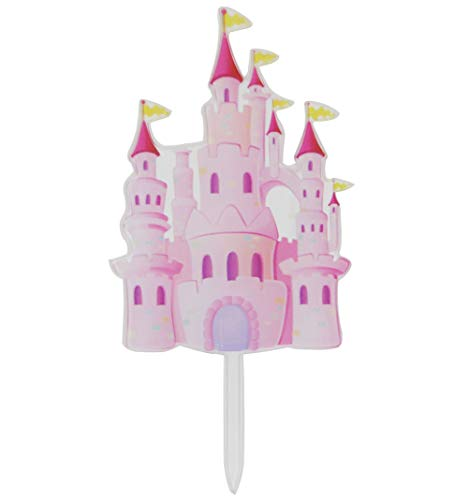 Awyjcas Silver Transparent Castle Cake Topper Boy and Girl Baby Shower Party Supplies Decorations ()