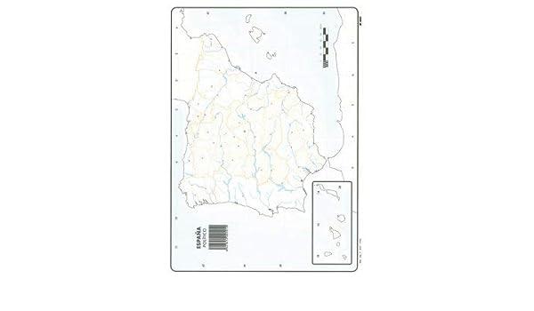 Mapa Mudo España Político A4 (10 ud.): Amazon.es: Oficina y papelería