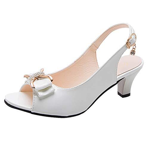 Price comparison product image peep Toe Sandal Respctful Women Casual Slip On Espadrille Sandals Slingback Heel Sandal Shoes White