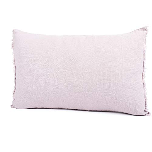 Harmony - Funda de cojín Viti - 100% lino - rosa fanée - 40 cm ...