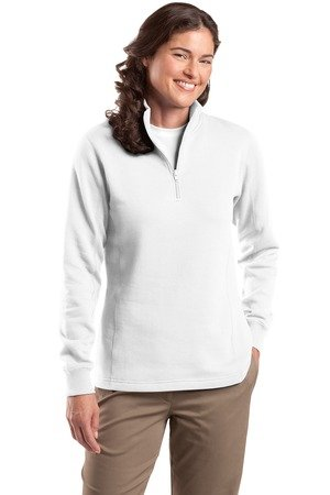 Sport-Tek Women's 1/4 Zip Sweatshirt XL White - Sport Tek White Sweatshirt