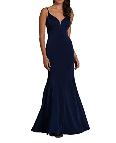 Traeger Meerjungfrau Langes La Kleid Spaghetti Ausschnitt mia V Navy Partykleider Abschlussballkleider Blau Brau Abendkleider Fesltichkleider Ballkleider xSAqwAY7nH