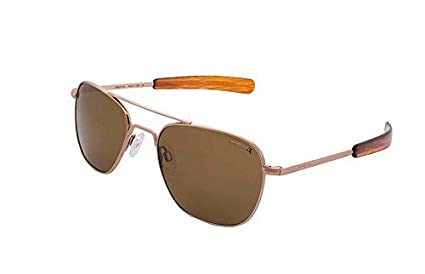 d940d9cc2378 Image Unavailable. Image not available for. Color  Randolph Engineering  Aviator Rose Gold Satin 55mm Tan Polarized Sunglasses