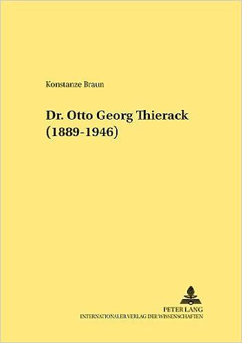 Dr. Otto Georg Thierack (1889-1946) (Rechtshistorische Reihe)