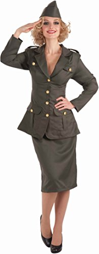 Forum Novelties Women's WWII Army Gal Costume, Green, Standard ()