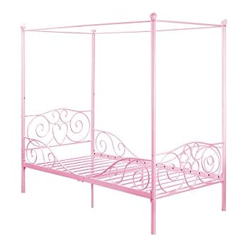 DHP Canopy Metal Bed Frame  Twin Size  Pink. Amazon com  DHP Canopy Metal Bed Frame  Twin Size  Pink  Kitchen