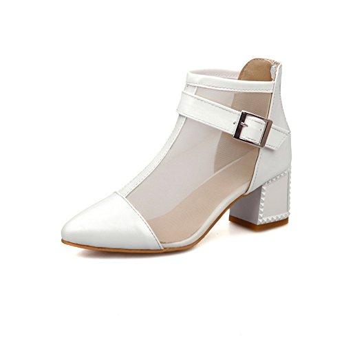 Adeesu Girls Kitten-heels Chaussures À Talons Pointus En Polyuréthane Chaussures Blanc