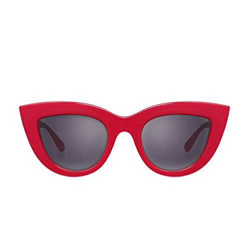 PERVERSE Sunglasses Unisex Acid Red/Glossy Red/Black Gradient One - Acid Red