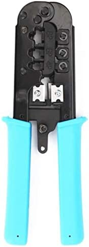 アクセサリー 圧着ペンチ、スルーホール、RJ45 / 11/9ネットワーククリスタルヘッド3つ(ワイヤークランプ付き) 耐久性のある