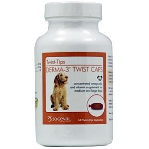 Derma-3 Twist Caps For Medium & Large Dogs, 250 Capsules