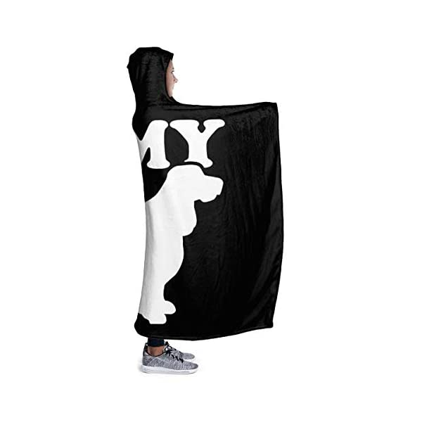 YOUNAOQQ I Love My English Springer Spaniel Wearable Hooded Blanket Warm Hooded Blanket Fluffy Blankets Fleece Hooded Blankets 3