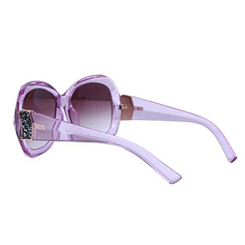 Fandia Extra Oversized Women's Round Sunglassses LT Purple Frame