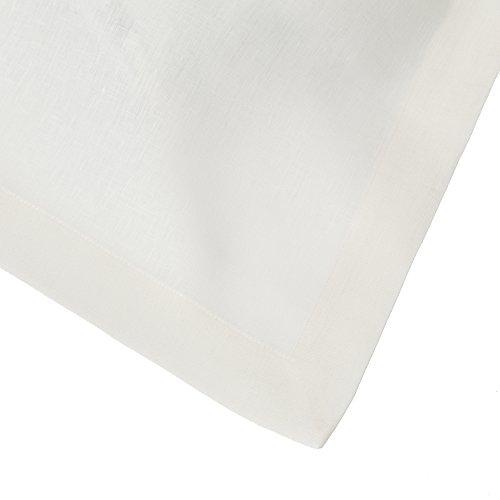 Huddleson Ivory Pure Italian Linen Tablecloth, 70