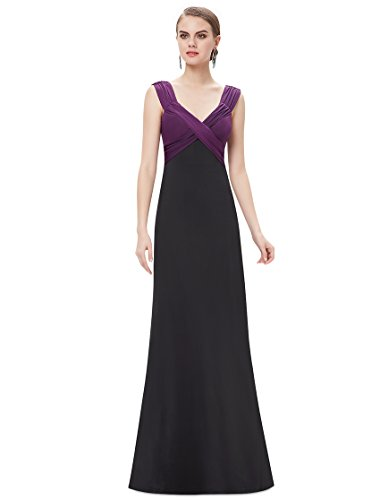 HE09051PP12 Purple 10US Ever Pretty Sexy V-neck Evening Gown 09051