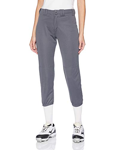 Alleson Ahtletic Women's Fast Pitch Softball Belt Loop Pants, Charcoal, Small ()