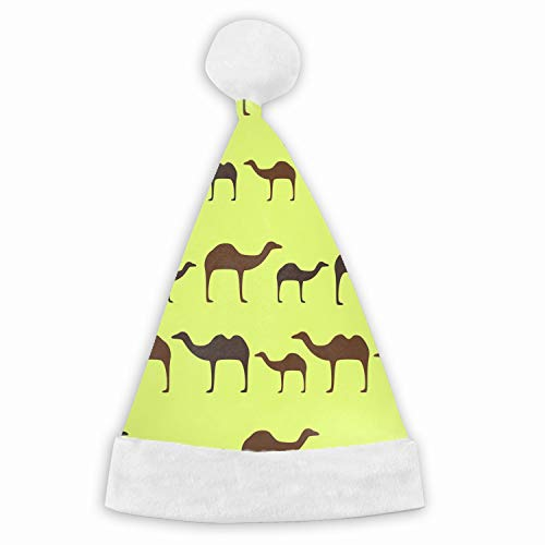 Christmas Walking Camel Animal Color Pattern Eps Santa Claus Hat Adult Kids Type Festival Party Decoration Gift Adult