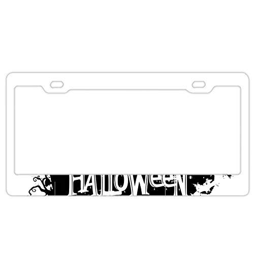 KSLIDS Happy Halloween Pumpkins License Plate Frames, Alumina