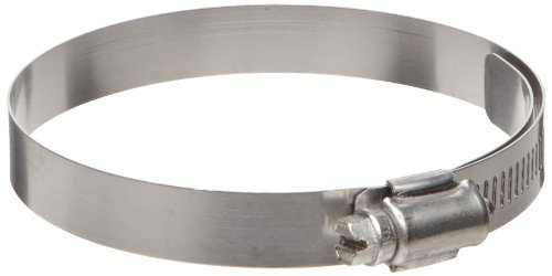 """Ideal-Tridon 65E  Series Stainless Steel 300 Worm Gear Hose Clamp, General Purpose Lined/Solid, 8 SAE Size, Fits 1/2"""" Hose ID, 16 mm - 25 mm Hose OD Range (Pack of 10)"""