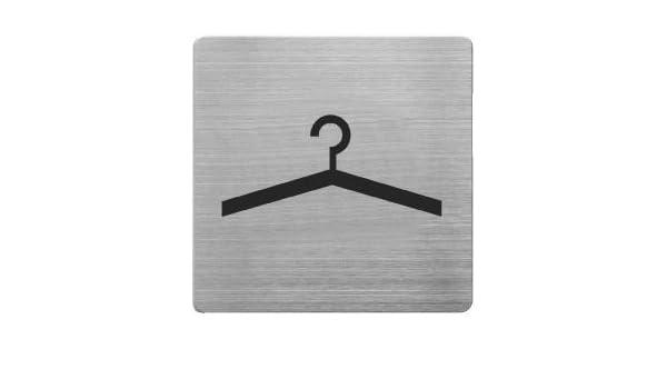9 x 9 cm de la placa de acero inoxidable alco pictograma ...