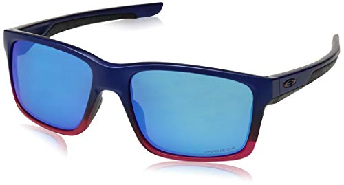 Oakley Men's Mainlink Non-Polarized Iridium Rectangular Sunglasses, BLUE POP FADE, 57.1 mm