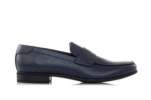 Prada Schoenen Pennyloafers Van Saffiano Leer Blauw
