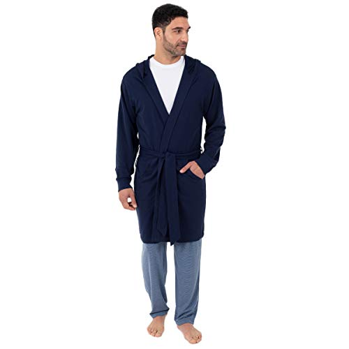 - IZOD Men's French Terry Robe, Navy, One Size
