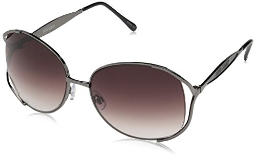 Steve Madden Women's Judy Square Sunglasses, Gunmetal, 60 ()