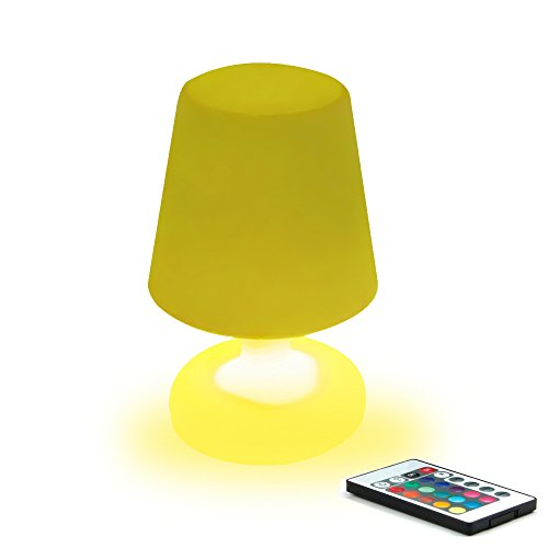 MR.GO 10-inch Dimmable RGB Color Changing LED Table Lamp w/R