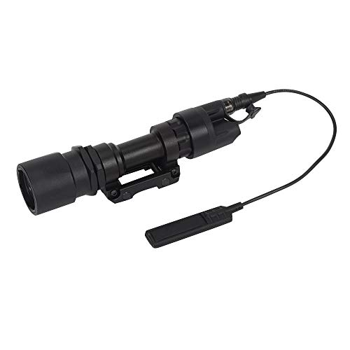 FARMSOLDIER M951 Compact LED Weapon Mounted Light Scout Flashlight Switch and Thumbscrew Mount 280 Lumens Black