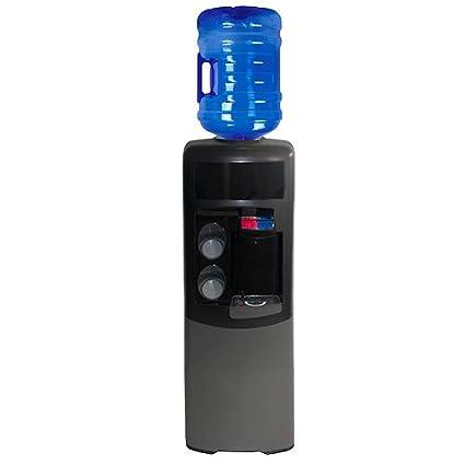 Dispensador Agua, Fuente EMAX de botellón, Negra y Gris. Agua fría y Caliente