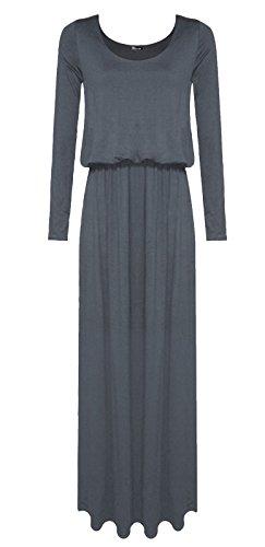 [SugerDiva Womens long sleeve plain toga maxi dress/ puffball maxi dress/ balloon maxi dress (M/L,] (Black Toga Dress)