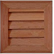 "GC1616 Cedar Wood Gable Vent ~ Louver box 15.5 x 15.5 ~ Overall 19.5"" x 19.5"" ~ Kimball Designs Sanded Smooth Functional Ventilation"