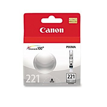 2 Pack Canon CLI-221GY; 2950B001 (CLI221GR) Gray OEM Genuine Inkjet/Ink Cartridge