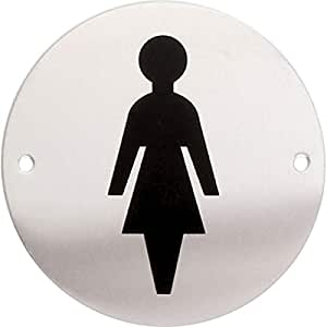 Amazon.com: iGadgitz Home U7030 - Aluminium WC Sign, Toilet ...