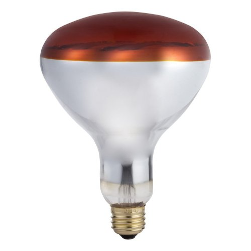 Life R40 Light Bulb - 375 Watts RED Heat Lamp R40 130 Volts Long Life Light Bulb