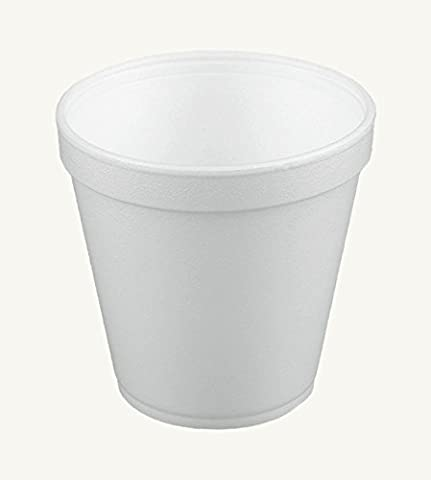 Dart 16MJ20, 16 Oz. Customizable White Foam Cold And Hot Food Container with Translucent Vented Lid, Dessert Ice-Cream Yogurt Cups, Deli Food Containers with Matching Covers - Dart Vented Lid
