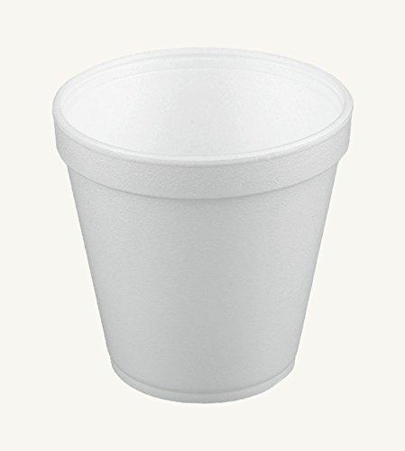 Dart 16MJ20, 16 Oz. Customizable White Foam Cold And Hot Food Container with Foam Vented Lid, Dessert Ice-Cream Yogurt Cups, Deli Food Containers with Matching Covers - Soup Containers Styrofoam
