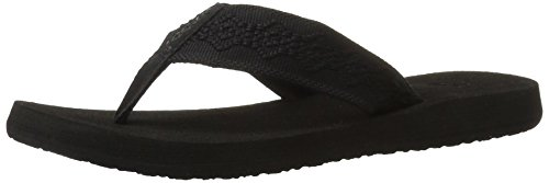 Reef Women's Sandy Sandal,Black/Black,9 M