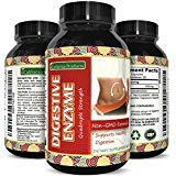 Potent Digestive Enzymes Supplement with Protease Enzyme, Acidophilus, Bromelain Capsules and Lactase Supplements, Break Down Protein and Carbohydrates with Immune System Booster by California Products