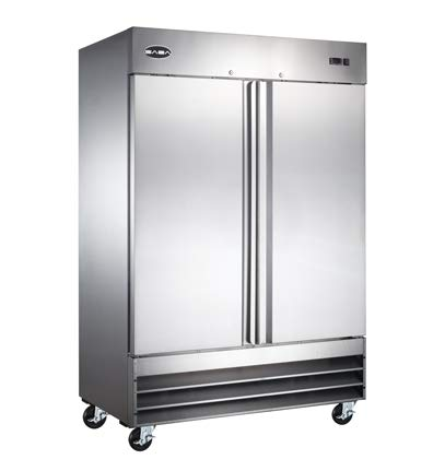 """54"""" Commercial Reach In Stainless Steel Refrigerator CFD-2RR"""